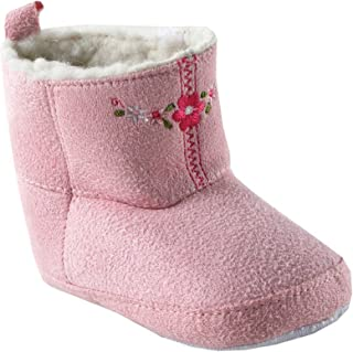 Luvable Friends Kids' Embroidered Suede Baby Boot Crib Shoe