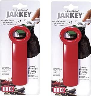 Brix 70712/2 JarKey Original Easy Jar Key Opener, 2-Pack, Red