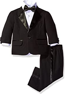 Nautica Baby Boys 4-Piece Tuxedo with Dress Shirt, Bow Tie, Jacket, and Pants