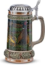 German Beer Stein, pheasant, 0.5 liter tankard, beer mug by Artina