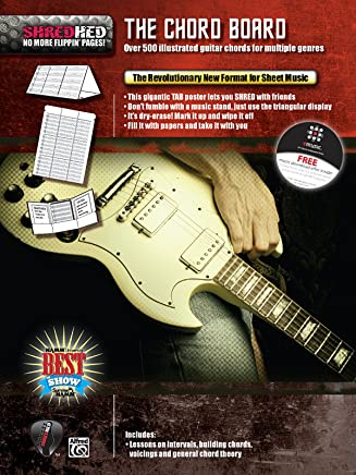 The Chord Board: Over 500 illustrated guitar chords for multiple genres