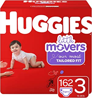 Sponsored Ad - Huggies Little Movers Baby Diapers, Size 3, 162 Ct, One Month Supply