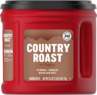 Folgers Country Roast Medium Dark Roast Ground Coffee, 25.1 Ounces (Pack of 6)
