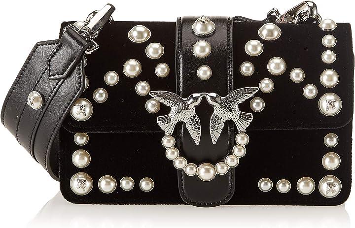 Borsa da donna pinko mini love borsa a spalla donna 7x15x22 cm (w x h x l) 1P216LY4YC