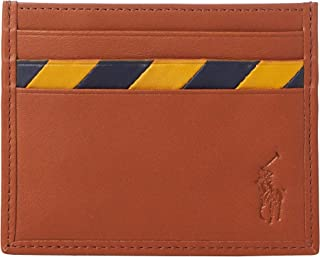 Men`s Striped Leather Card Case