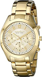 Caravelle New York Women's 44L118 Gold-Tone Stainless Steel Watch