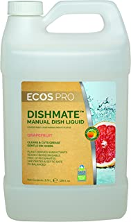 Earth Friendly Products Proline PL9722/04 Dishmate Grapefruit Ultra-Concentrated Liquid Dishwashing Cleaner, 1 gallon Bottles (Case of 4)