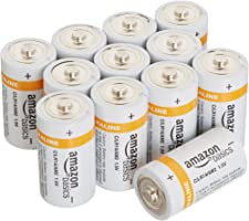 AmazonBasics C Cell Everyday 1.2V Alkaline Batteries (12-Pack)