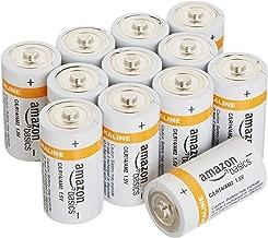 AmazonBasics C Cell Everyday 1.5 Volt Alkaline Batteries - Pack of 12