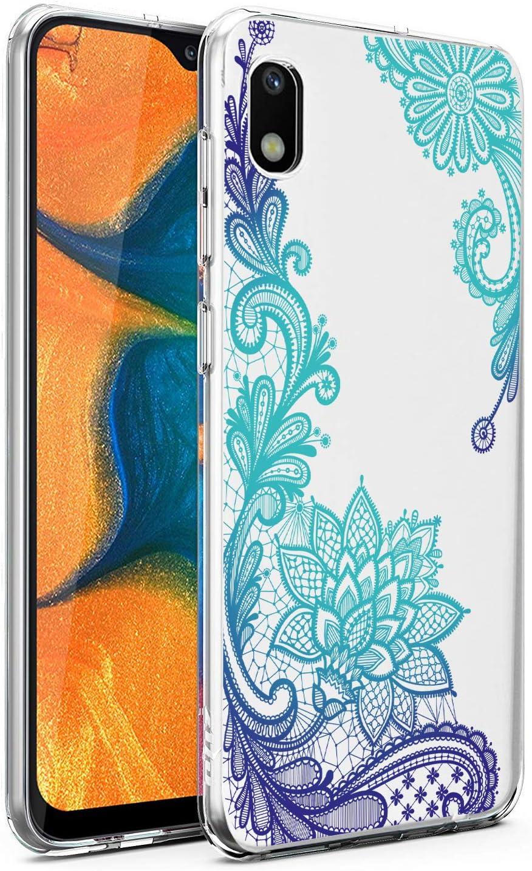 Starhemei Galaxy A10E Case, Slim TPU Soft Shell Ultra Thin Flexibility Bumper Rubber Case Cover for Samsung Galaxy A10E (GreenLace)