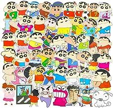 Crayon Shin Chan Cute Anime Stickers Pack 50pcs, Waterproof Vinyl Cartoon Laptop Car Skateboard Notebook Decals