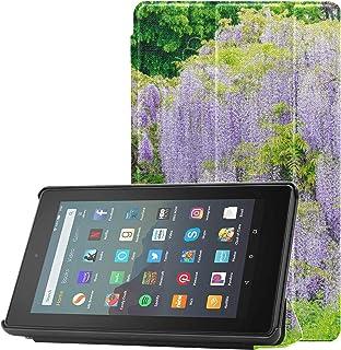 Etui na Kindle Fire 9. generacji fioletowe wisteria świeże zielone etui Kindle do tabletu Fire 7 (9. generacji, modele z 2...