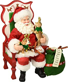 Department 56 Santa and His Pets Sit Stay Pose Figurine, 11