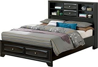 247SHOPATHOME Edrina Storage Bed, Queen, Gray