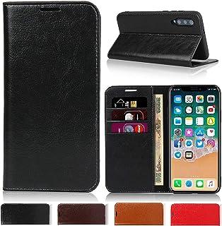 ソニーXperia Z5 Compactケース 手帳型 SO-02H ケース 手帳型 SO-02Hカバー 財布型 エクスペリアSO-02H Jaorty牛革収納ポケットスタンド機能 耐久性 高級感大人っぽい手作りデザインオシャレ4色-ブラック