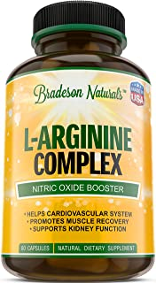 L-Arginine & L-Citrulline Supplement. Nitric Oxide Booster. Speeds up Workout Recovery. Vital & Natural Amino Acid. Suppor...