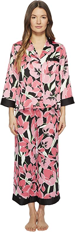 Kate Spade New York Tropical Floral Cropped Pajama Set