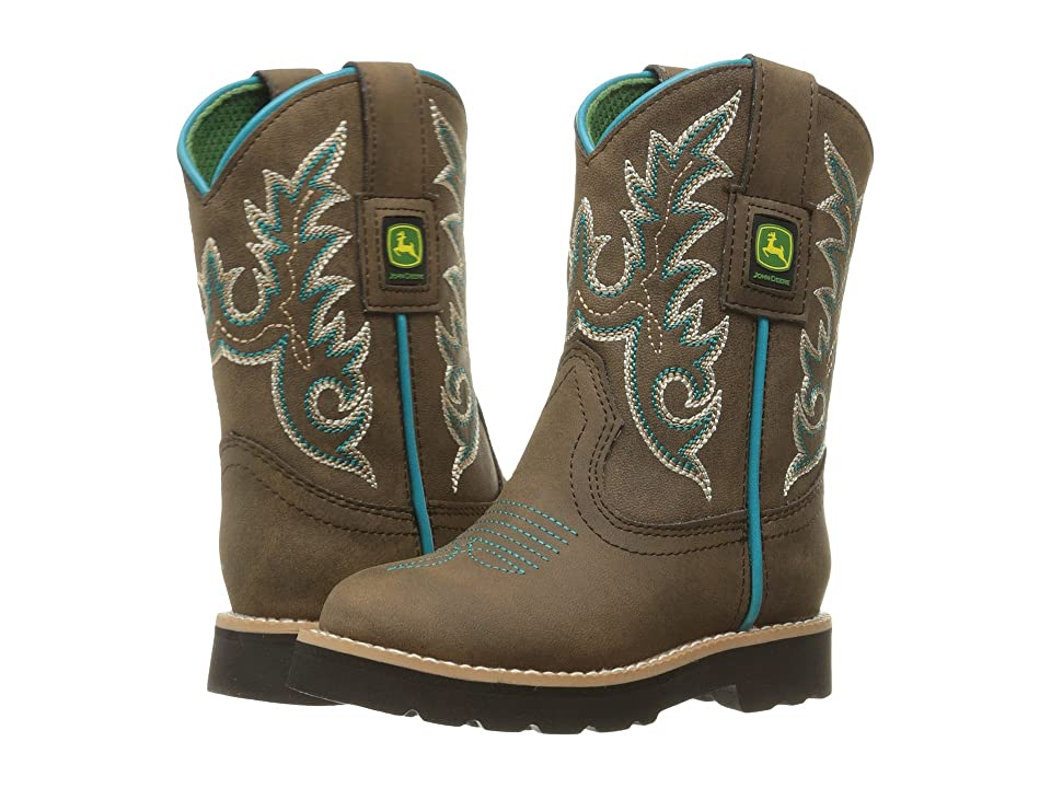 John Deere Everyday Round Toe (Toddler/Little Kid) (Distressed/Turquoise) Men