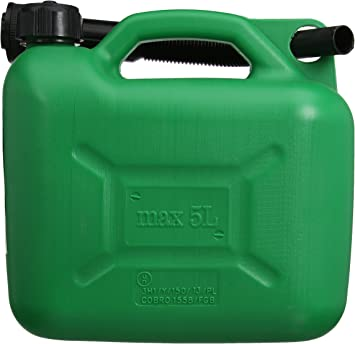 Silverline 847074 Plastic Fuel Can - 5 L, Green: image