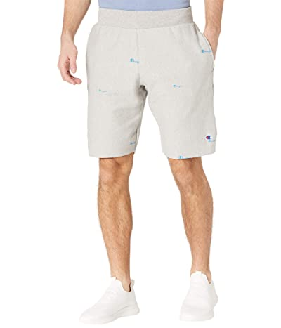 Champion LIFE Reverse Weave(r) Cutoffs Shorts All Over Print (Spread Scripts Oxford Grey) Men