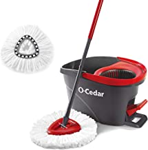 O-Cedar EasyWring System with 1 Extra Refill, 041785999462, Red/Gray, Spin Mop with 1 Extra Refill
