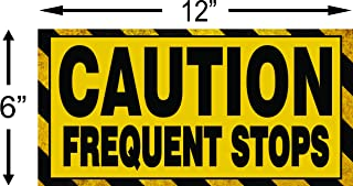Caution Frequent Stops Magnetic Sign Rural Delivery Carrier Magnet 6