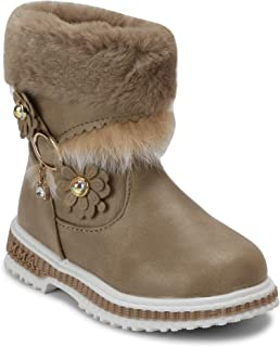 PASSION PETALS Winter Boots with Fur and Flowers for Girls