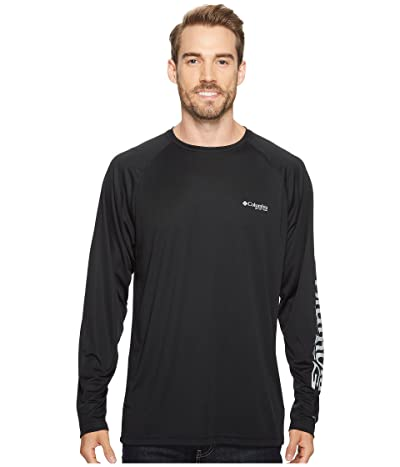 Columbia Terminal Tackletm L/S Shirt (Black/Cool Grey Logo) Men