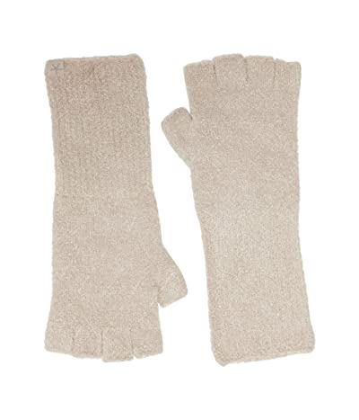 Barefoot Dreams Cozychic Lite Fingerless Gloves (Taupe) Snowboard Gloves