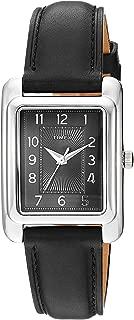 Women's TW2R89700 Meriden Black/Silver-Tone Leather Strap Watch