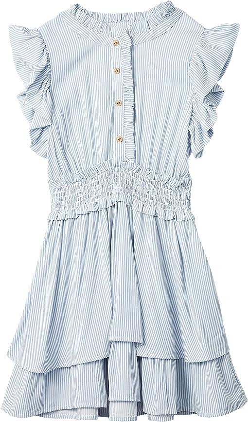 Vanilla/Retro Blue Stripe