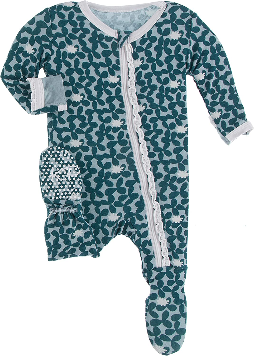 Recommendation KicKee Pants Muffin Ruffle Printed Fresno Mall with Pajamas B Zipper Footie