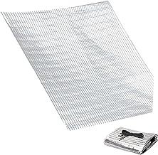 HAI RONG Clear Tarps Outdoor Schaduw Block 14x20ft Zilver, Doorlaatbare Veranda Shades, Scheurbestendig Groot Schaduwzeil,...