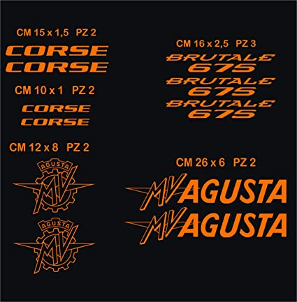 Aufkleber Stickers Mv Agusta Mvagusta Brutale 675 Motorrad Cod 0579 Arancione Cod 035 Sport Freizeit