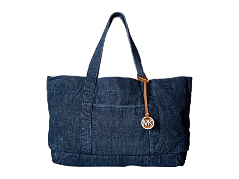 6PM: MICHAEL Michael Kors Denim Item XL Tote 女士牛仔包, 原价$158, 现仅售$94.99, !