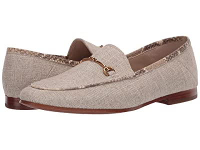 Sam Edelman Loraine Loafer (Dark Tan Glitter Linen Weave) Women