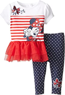 Disney Baby Minnie Mouse niña 2 Piezas Legging Set