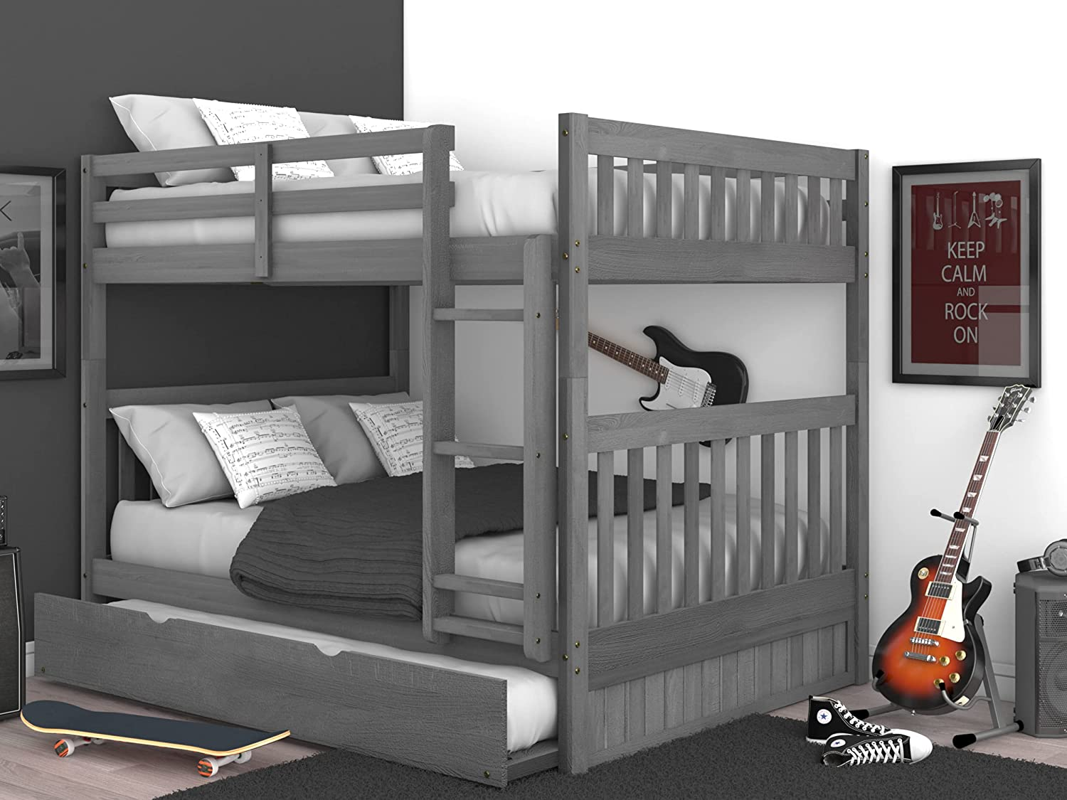 Excellence OS Home and Office 83215-TRUN-KD Charcoal Bunk Gray Full Memphis Mall