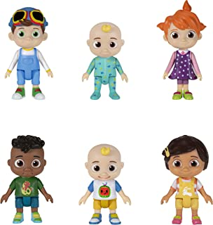 CoComelon Official Friends & Family, 6 Figure Pack - 3 Inch Character Toys - Features Two Baby JJ Figures (Tee and Onesie)...