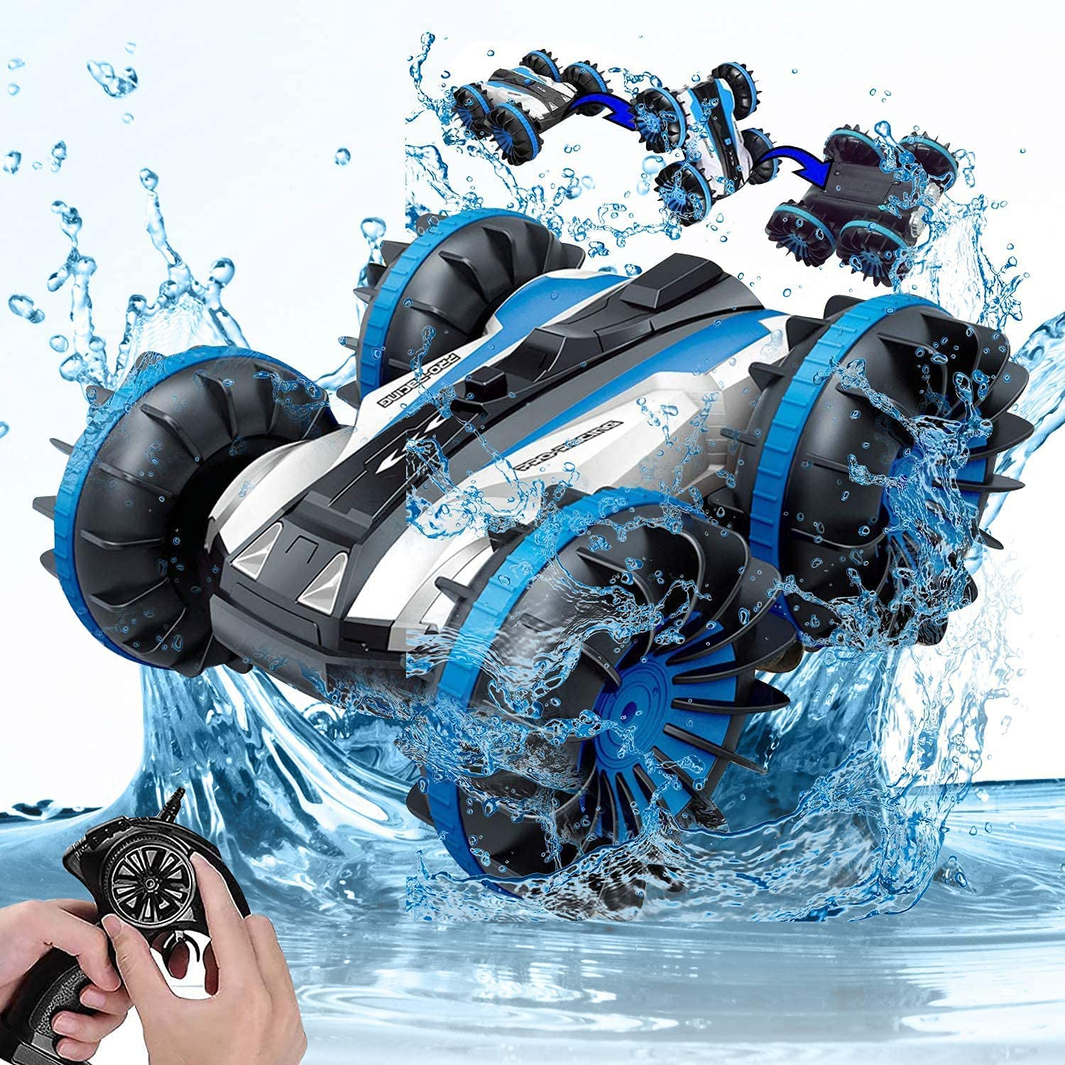 Remote Control Boat Truck 4WD Year-end gift Amphibious Bombing new work Off