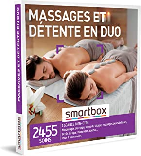 Smartbox - Coffret Cadeau Couple - Massages et détente en Duo - idée Cadeau - 1 séance Bien-être jusqu'à 2h30 pour 2 Perso...