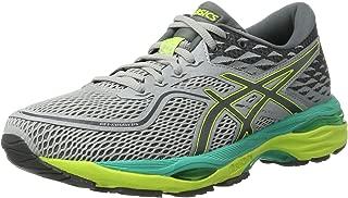 (3.5 UK, Grey (Mid Grey/Carbon/Safety Yellow)) - Asics Women's Gel-Cumulus 19 Running Shoes