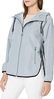 Calvin Klein Women's Crossover Back Water Repellent Hooded Spectator Jacket (Regular and Plus)