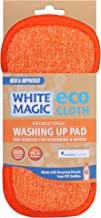 White Magic Dish Cleaning Microfibre Eco Cloth Washing Up Pad, Tangerine