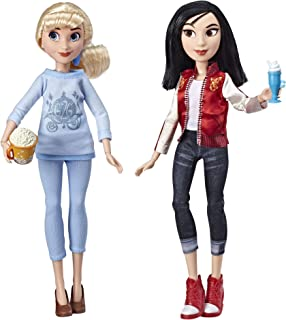 Disney Princess Ralph Breaks The Internet Movie Dolls, Cinderella and Mulan Dolls with Comfy Clothes and Accessories