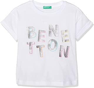 United Colors of Benetton Glitter Benetton Yazılı Tshirt Kız çocuk T-Shirt