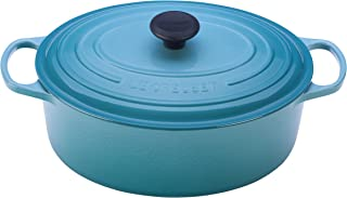Le Creuset of America Enameled Cast Iron Signature Oval Dutch Oven, 8 quart, Caribbean - coolthings.us