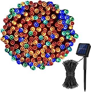 Koxly Solar String Lights,72FT 200 LED 8 Modes Solar Powered Christmas Lights Outdoor String Lights Waterproof Fairy Light...