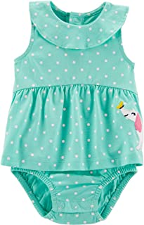 Carter's Baby Girls Polka Dot Sunsuit