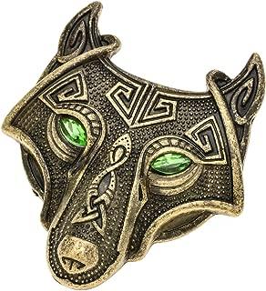 Viking Norse Wolf Head Bird Skull Brooch Pin Gothic Irish Viking Scarf Lapel Pin